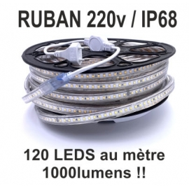 RUBAN 220V IP68 BIG BLANC CUT 500 MM
