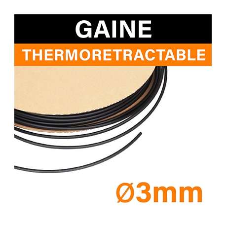 GAINE THERMORÉTRACTABLE - ⌀3mm