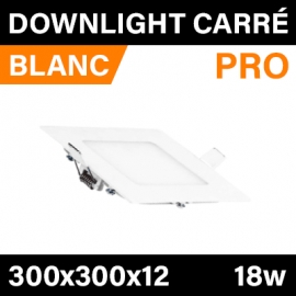 DOWNLIGHT - PRO - BLANC - CARRÉ - 18W
