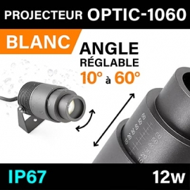OPTIC-1060 - ANGLE RÉGLABLE - IP67 - 12W - 3000K