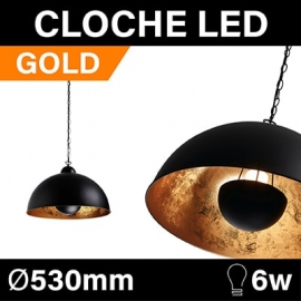 CLOCHE LED - GOLD - AMPOULE 6W - 1 COULEUR