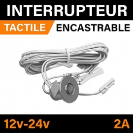 INTERRUPTEUR TACTILE ENCASTRABLE - 12v - 24v - 2A