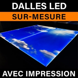 Dalle led sur mesure avec impression
