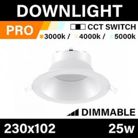 DOWNLIGHT - PRO - CCT SWITCH - 25W - DIMMABLE