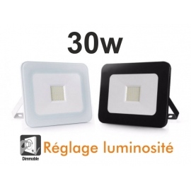 Projecteur Led 30w Blanc ou Noir / Dimmable / Chaud - Froid - Pure